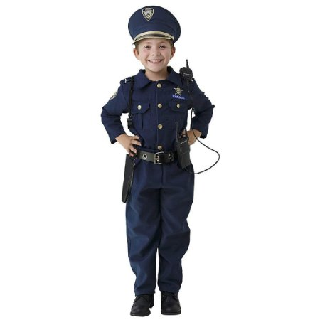 Fantasia Uniforme De Policia Infantil Deluxe Dress Up