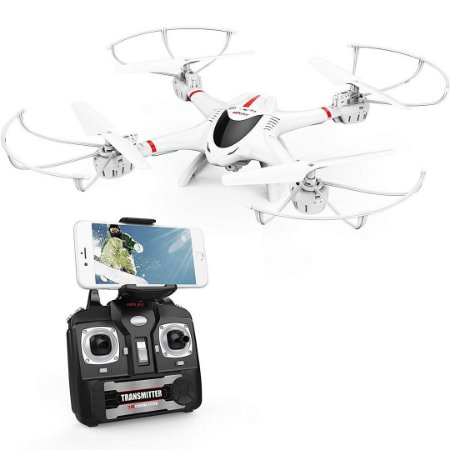 Drone DBPOWER X400W FPV RC Quadcopter Câmera Wi-Fi Função Retorno Headless 2.4 GHz 6 Eixos Gyro RTF
