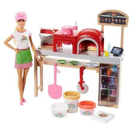 Boneca Barbie Brinquedo Infantil Chef Pizzaiola Playset