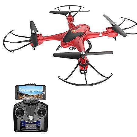 Drone HS200 FPV RC HD Wifi Câmera 2.4 GHz 4 Canais Gyro Quadcopter Altitude Hold