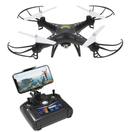 Drone HS110 FPV RC Câmera 720p HD Wi-fi 2.4 GHz Gyro RC Quadcopter Hold Headless