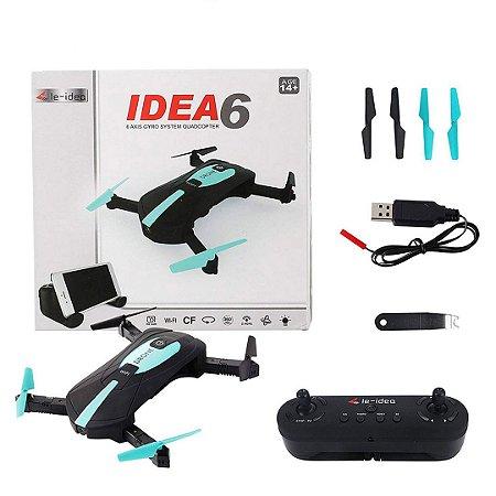Drone Idea 6 RC Quadcopters Câmera Wifi 720p HD FPV 2.4Ghz LED RTF Hold Headless 3D Flip