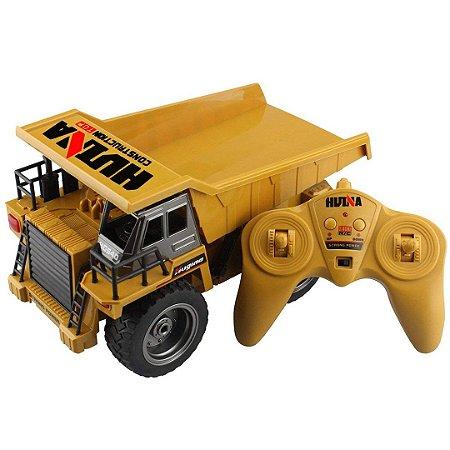 Caminhão Basculante Fora da Estrada Fisca RC Infantil Com Controle Remoto