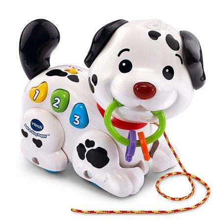 Cachorrinho Infantil Puxar e Cantar Vtech Eletrônico com Músicas Filhote Fofo