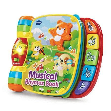 Livro Interativo Musical Infantil Com Rimas Vtech Para Bebê