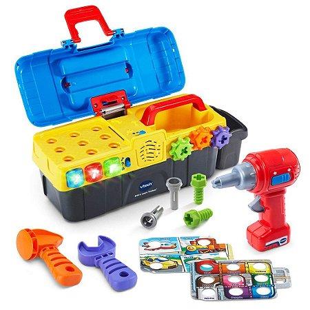 Caixa de Ferramentas Interativo VTech Drill & Learn Infantil com Músicas e Luzes