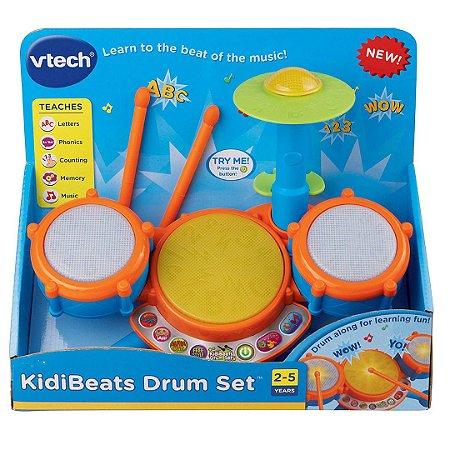 Conjunto de Baterias Eletrônico Vtech Infantil com Baquetas e Melodias e Luzes