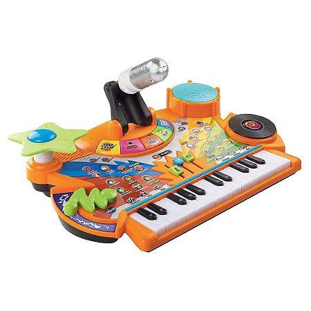 Conjunto de Instrumentos de um Studio Vtech Eletrônico Infantil com Microfone
