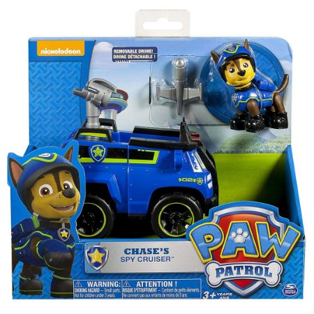 Patrulha Canina Paw Patrol Infantil Veículo com Personagem Chase