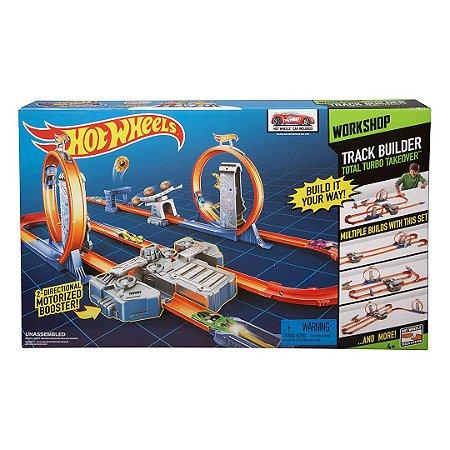 Pista de Corrida Hot Wheels Infantil Track Builder Turbo