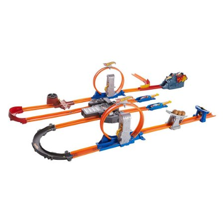 Pista de Corrida Hot Wheels Infantil Track Builder Turbo