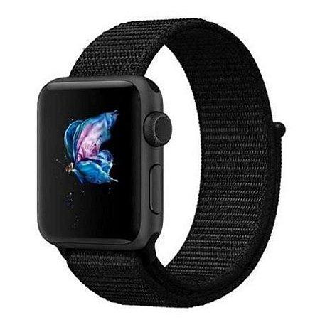 Pulseira Nylon Loop Para Apple Watch 38mm - Preto