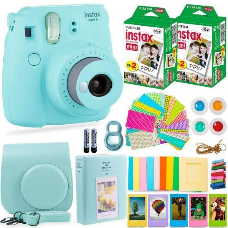 Kit Câmera Instantânea Fujifilm Instax Mini 9 + Filme Instantâneo Fuji + Pacote de Acessórios