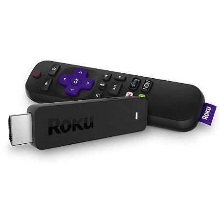 Conversor Roku Streaming Stick 3800R HD Transforme Tv em Smart HDMI Controle Remoto