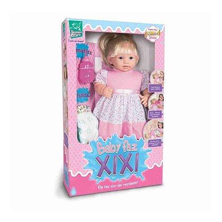 Boneca Baby Faz Xixi De Verdade Com Mamadeira E Fralda