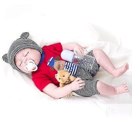 Bebê Reborn Kaydora Bebê Dormindo Pedro