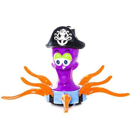 Polvo Capitão Musical Bate E Volta Captain Octopus Carrinho Led