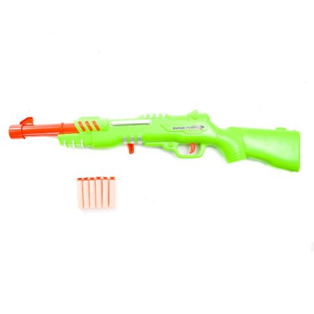 Super Rifle Brinquedo Blaster Shotgun Atira Dardos Soft