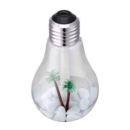 Difusor Umidificador de ar Luminária Ambiente Lâmpada Luz Led USB
