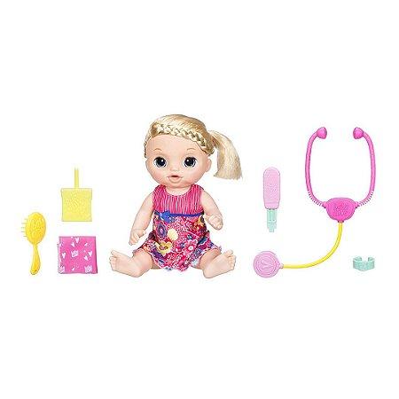 Boneca Baby Alive Infantil Doces Lágrimas Bebê Loira