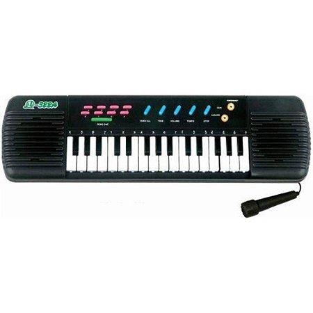 Teclado Infantil Piano Brinquedo Musical Com Karaoke E Microfone Para Crianças