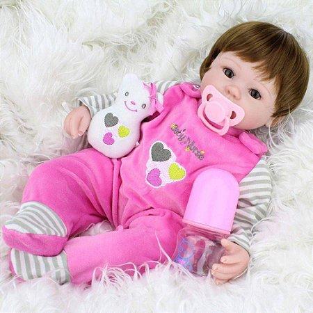 824c20ddf2d Boneca Bebê Reborn 40cm Realista - Chic Outlet - Economize com estilo!
