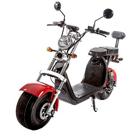 Moto Scooter Elétrica CityCoco 1500W Bateria 20Ah Vermelha H10