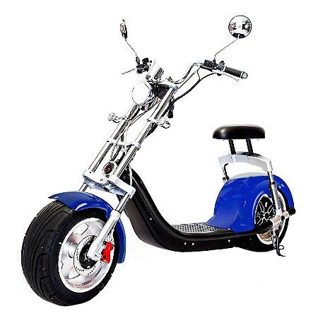 Moto Scooter Elétrica CityCoco 1500W Bateria 20Ah Azul H7