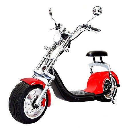 Moto Scooter Elétrica CityCoco 1500W Bateria 20Ah Vermelho H7