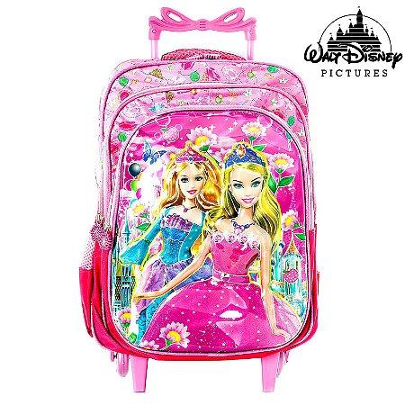 Mochila Escolar Infantil Barbie Com Rodinhas