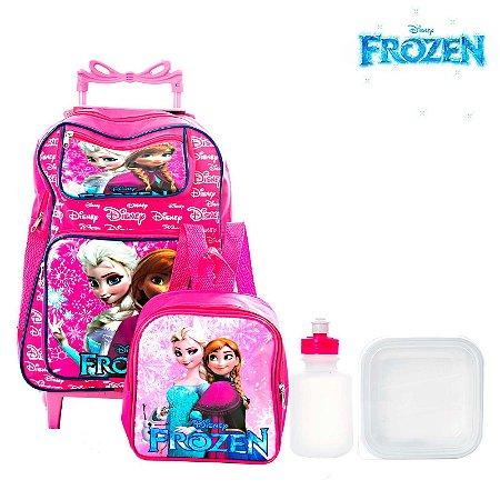 a89cb4b2e Kit Mochila Escolar Infantil Frozen Com Rodinha - Chic Outlet ...