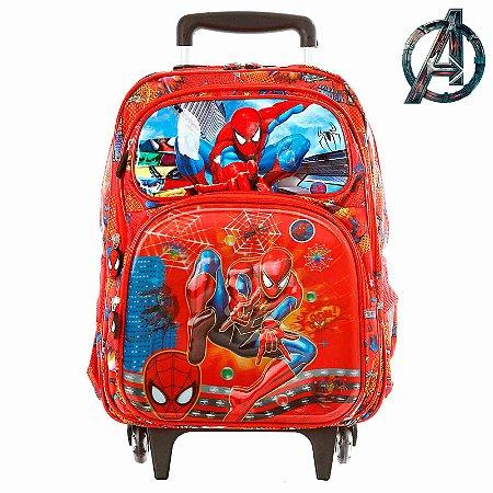Mochila Infantil Escolar Homem Aranha