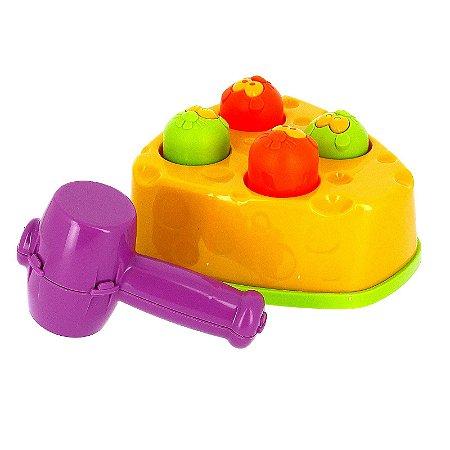 Brinquedo Infantil Rata Tuff Bata No Ratinho com Martelo JP Brink