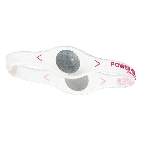 Pulseira Power Balance Incolor Com Rosa Tamanho P