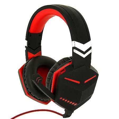 Fone Ouvido Headset Feir Gamer Pc Note Ps4 X-one Fr-510 USB Vermelho