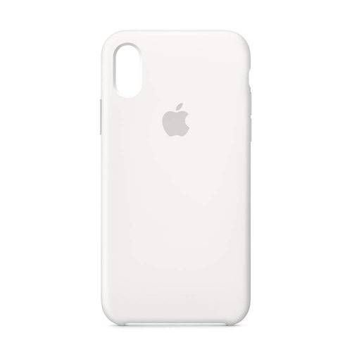 Capa Iphone XR Silicone Case Apple Branco