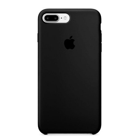 Capa para iPhone 8 Plus e 7 Plus em Silicone Apple Preto