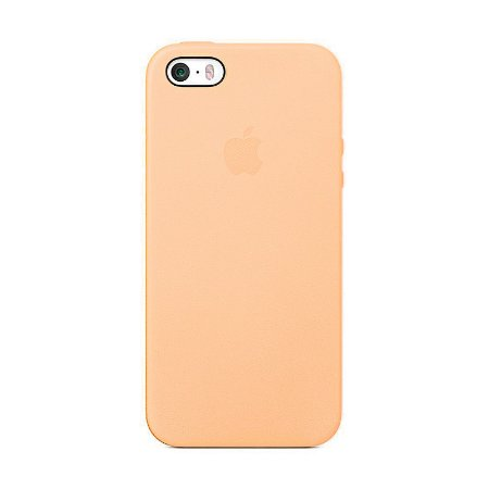 Capa Iphone SE Silicone Case Apple Salmão
