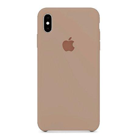 Capa Iphone XS Max Silicone Case Apple Creme