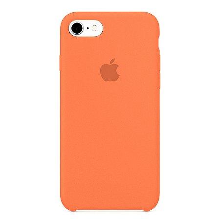 Capa Iphone 7/8 Silicone Case Apple Salmão