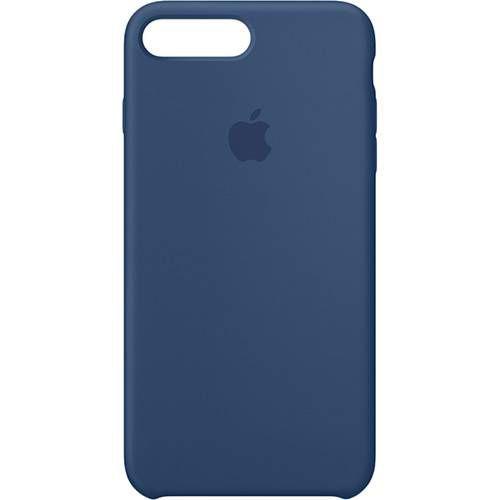 Capa para iPhone 8 Plus e 7 Plus em Silicone Apple Azul