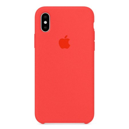 Capa Iphone X Silicone Case Apple Pink