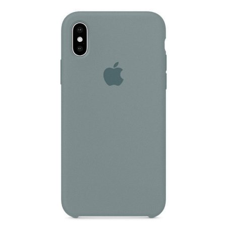 Capa Iphone X Silicone Case Apple Cinza Espacial