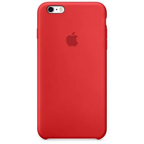 Capa para iPhone 6 e 6s em Silicone Apple Vermelho