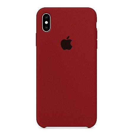 Capa Iphone XS Max Silicone Case Apple Vinho
