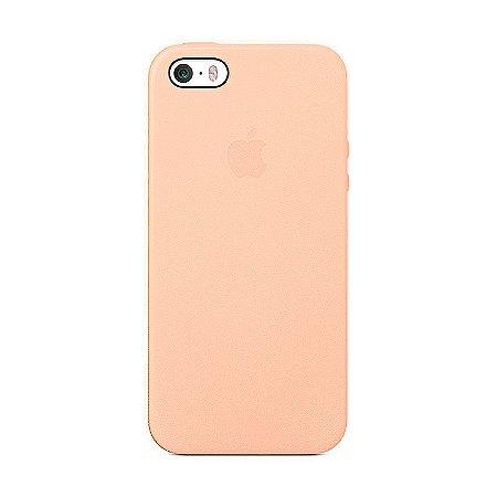 Capa Iphone SE Silicone Case Apple Rosa