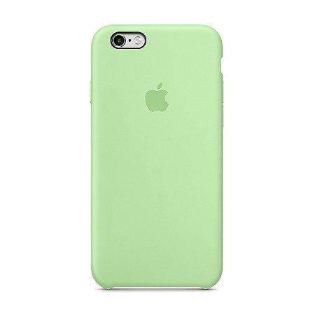 Capa Iphone SE Silicone Case Apple Azul Turquesa