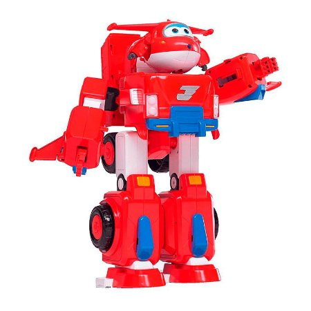 Super Wings Boneco Transformador Jett Super Robô - Fun Divirta-se