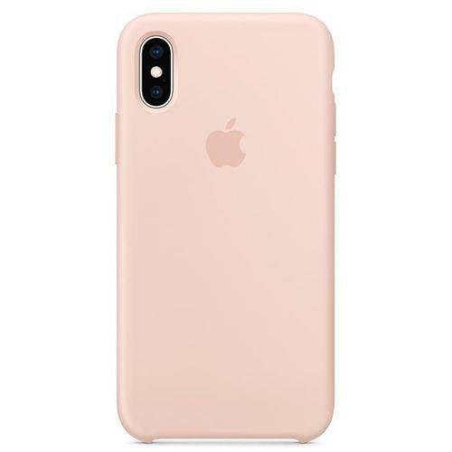 Capa iPhone Xs e X, Apple, Silicone Rosa