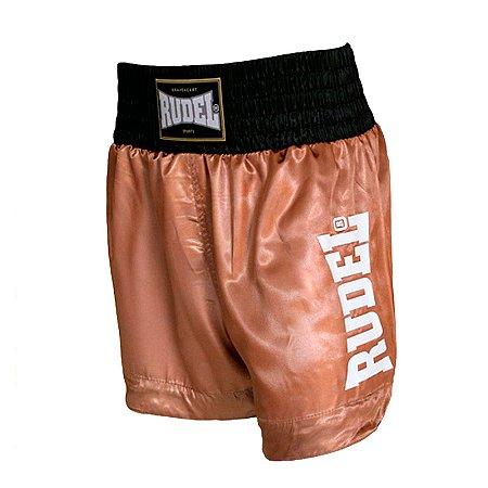 Shorts de Muay Thai Cetim MT 14 Goldem Série 2 Rudel Sports Tamanho P